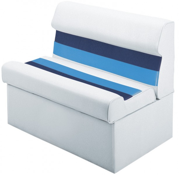 WISE SEAT WD100 1008 Wise Lounge Seat White Navy Blue 27 1 2 39 39 H